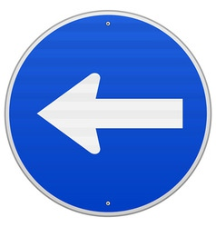Blue Sign with Arrow Left vector