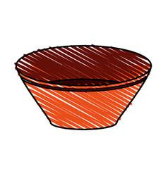 Bowl utensil kitchen icon vector