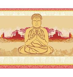 Buddha - abstract card vector image