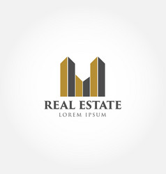 building real estate business logo sign symbol vector image