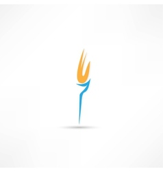 Burning torch icon vector image