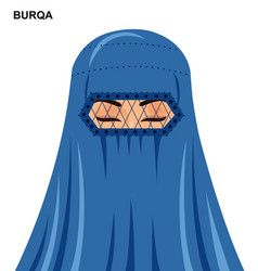 burqa style beautiful muslim woman vector image