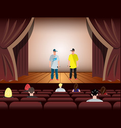 cartoon rapper on stage vector image