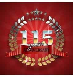 Celebration golden badge for 100th anniversary vector