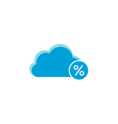 cloud computing icon percent icon vector image