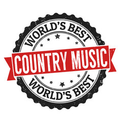 country music sign or stamp vector image