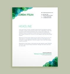 Creative business letterhead identity vector