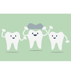 Dental crowns vector