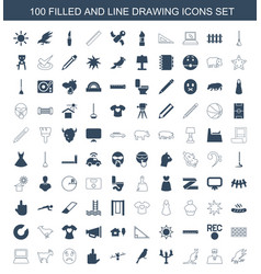 drawing icons vector image