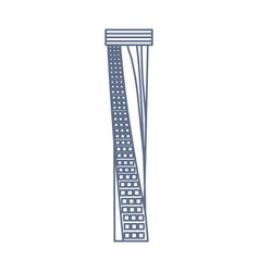 dubai skyscraper tower neon lines vector image
