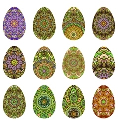 Easter egg design set vector