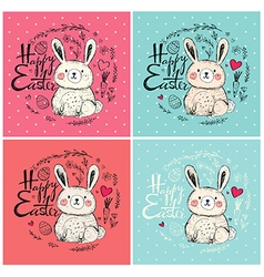 Easter greeting cards vector image