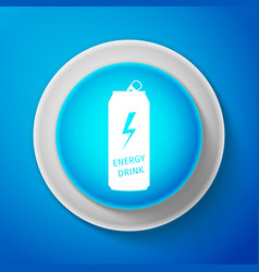 energy drink icon isolated on blue background vector image