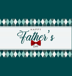 Fathers day banner vintage text label vector