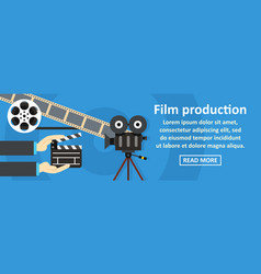 film production banner horizontal concept vector image