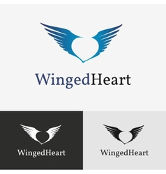 Flying wings Logo template vector