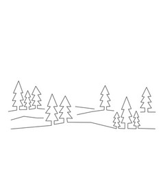 forest in line style on white vector image