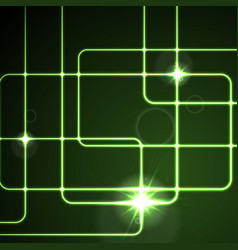 glow neon green lines abstract background vector image