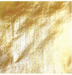Golden foil background vector