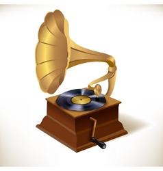 Gramophone print template vector
