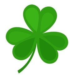 Green clover leaf isolated on white background vector image