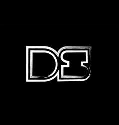 grunge black and white alphabet letter vector image