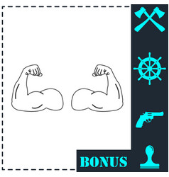 Gym icon flat vector