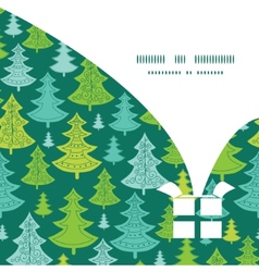 Holiday christmas trees Christmas gift box vector