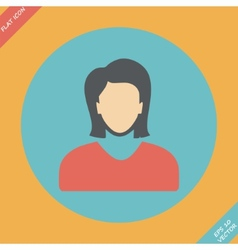 icon of woman - vector image