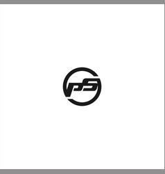 initial letter logo design template vector image