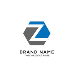 initial z logo design inspiration vector image