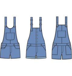 jean overalls set vector image