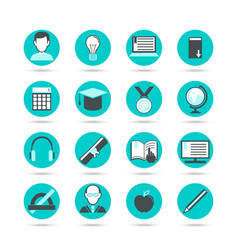 learning flat icon set vector image