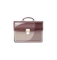leather business bag isolated on vector image