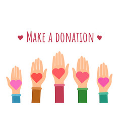make a donation flat banner template vector image