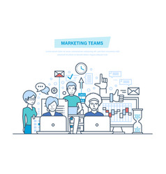 Marketing teams corporate business group people vector
