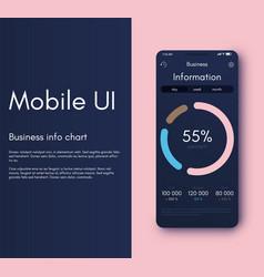 Mobile application interface ui design vector