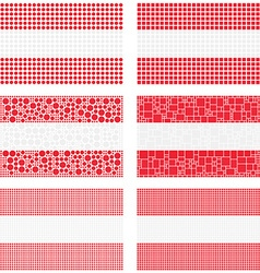 Mosaic Austria flag set vector