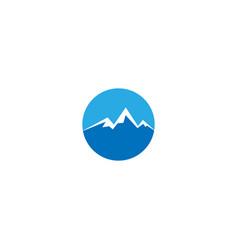 Mountain logo design template vector