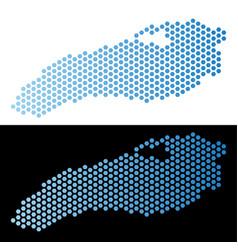 Ontario lake map hex tile mosaic vector