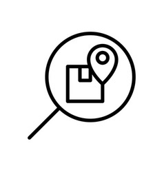 Package tracking logistic icon vector