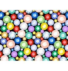 Pattern of precious stones vector image