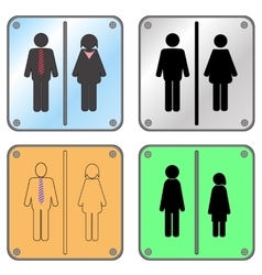 Restroom Sign with Man and Woman vector