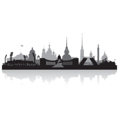 Saint Petersburg city skyline silhouette vector image