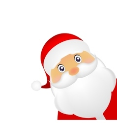 Santa Claus standing on a white background vector