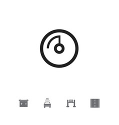 Set of 5 editable vehicle icons includes symbols vector