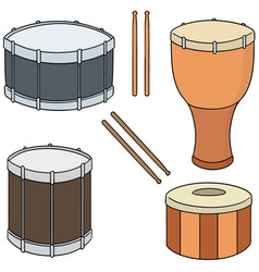 set of drum vector image