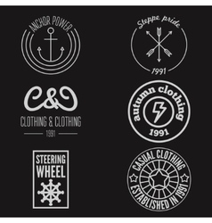 Set of logo sticker emblem print label vector