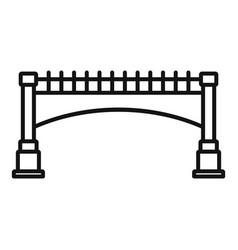 small bridge icon outline style vector image