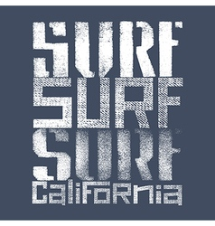 Surfing print 004 vector